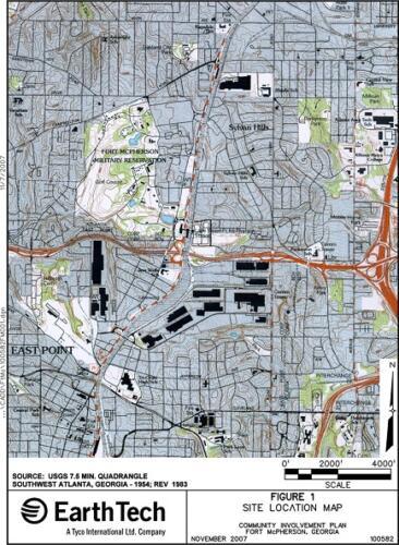 2007 Location Map