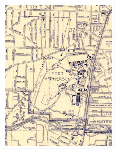 Old Map of Fort McPherson