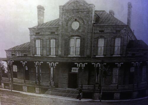 West Elevation of Post HQ c1892